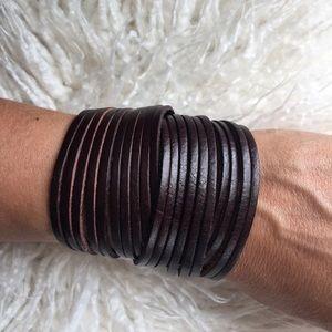 Jewelry - Boho leather wrap bracelet